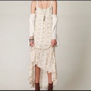 Free people lovebirds high-low maxi